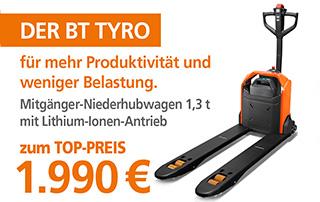 Mitgänger-Hubwagen BT Tyro LHE130 zum Top-Preis